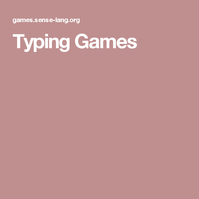 Typing Games | KEYBOARDING | Pinterest | Typing games, Free