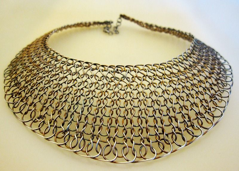 Wire Knit Collar Necklace https://www.facebook.com/ArjasUni ...