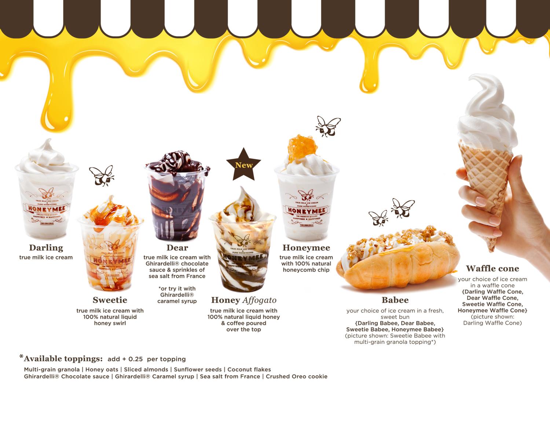 Ice Cream Menu — HONEYMEE   an awfully big adventure   Pinterest ...