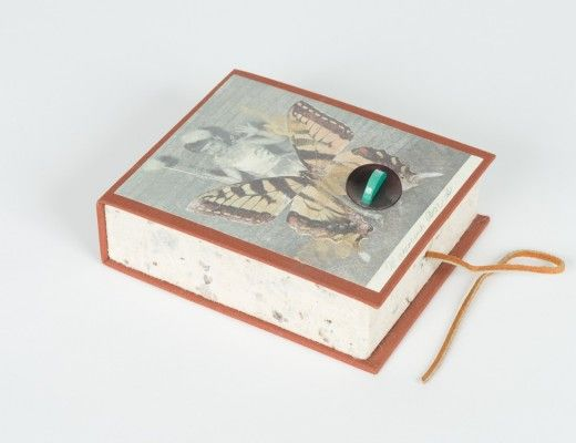 Pinned Down, a butterfly-themed artists' book from Kerry McAleer-Keeler