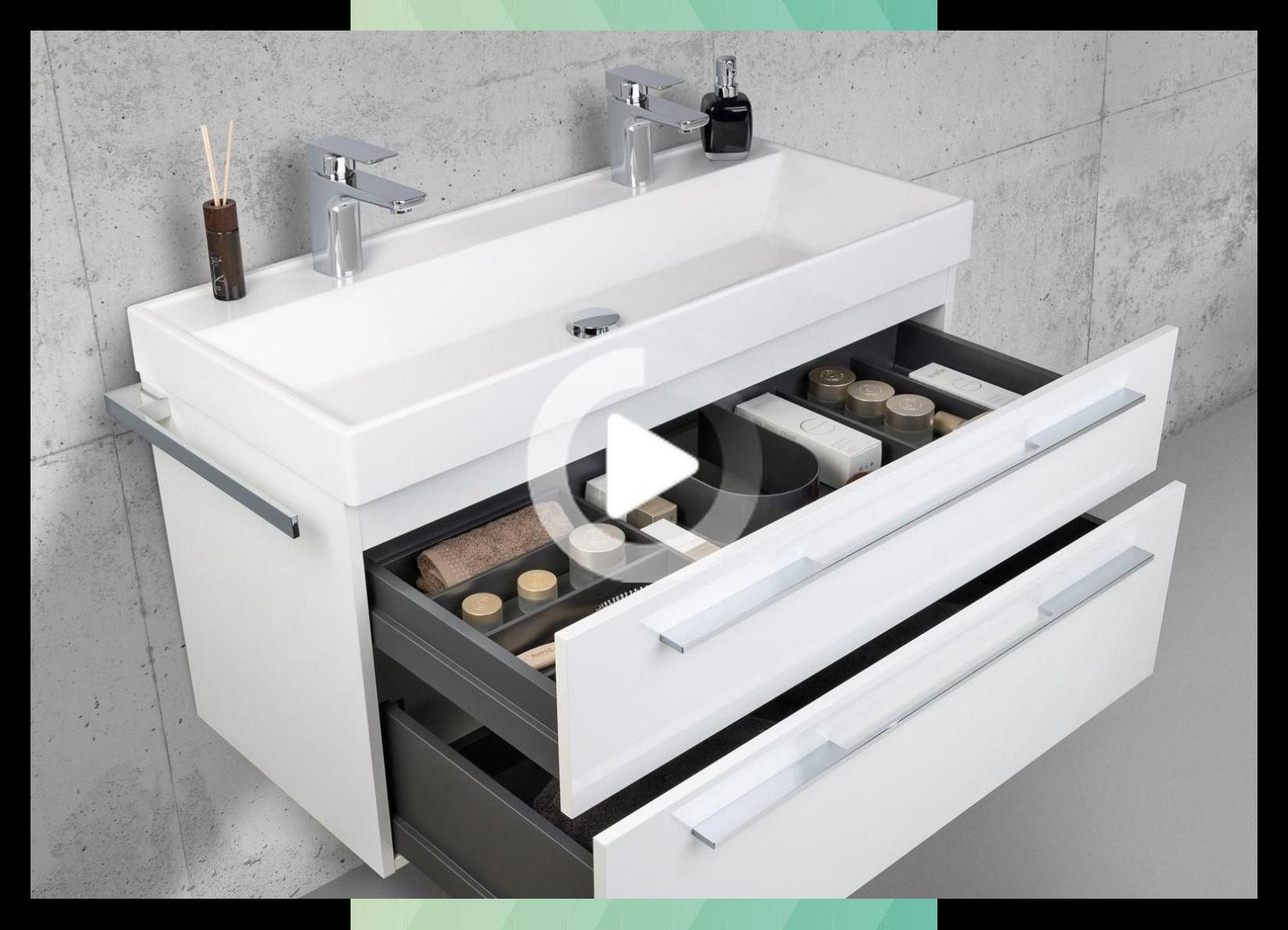 Meble Lazienkowe Set 100 Cm Podwojna Umywalka Z Szafka Zestaw Proznosc In 2020 Bathroom Furniture Sets Vanity Bathroom Furniture