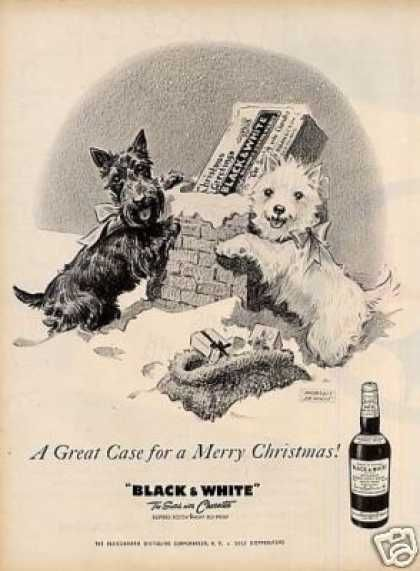 "B Ad ""A Great Case For..."" Westie/scottie (1958)"