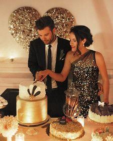 Sophisticated black and gold wedding #trends #cake #weddingcake