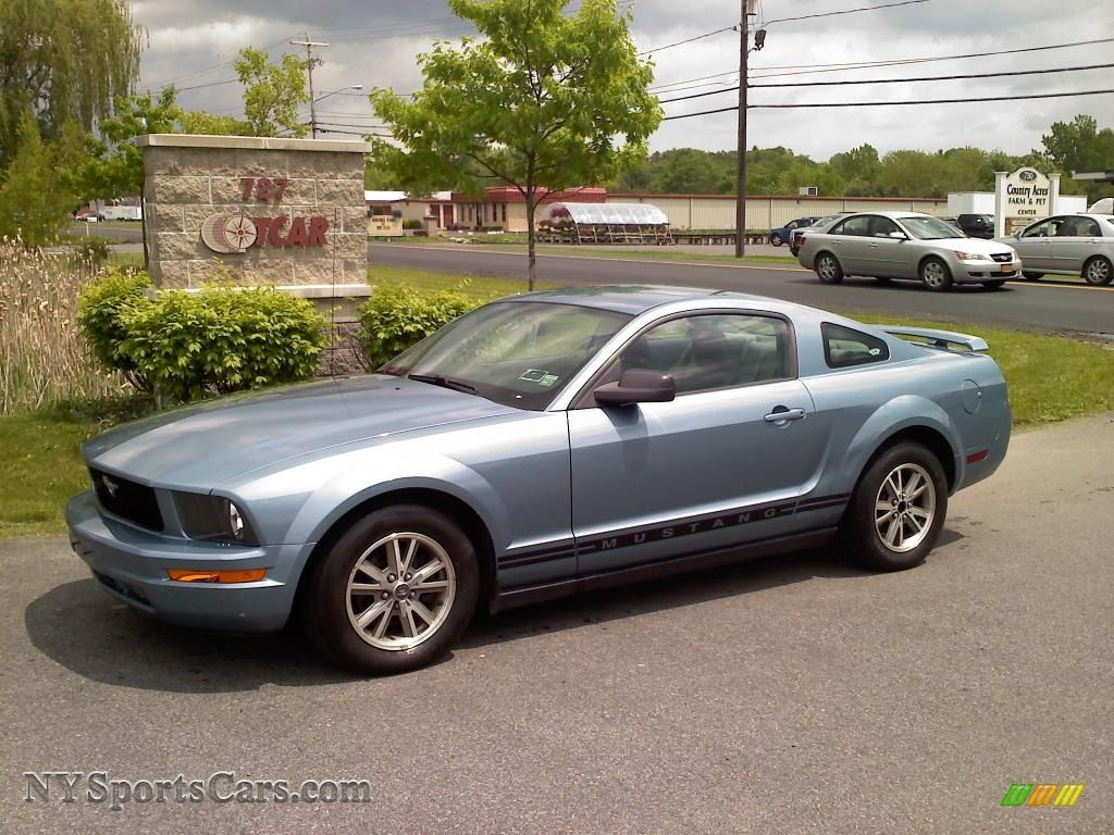 2005 ford mustang v6 deluxe coupe in windveil blue metallic 157438