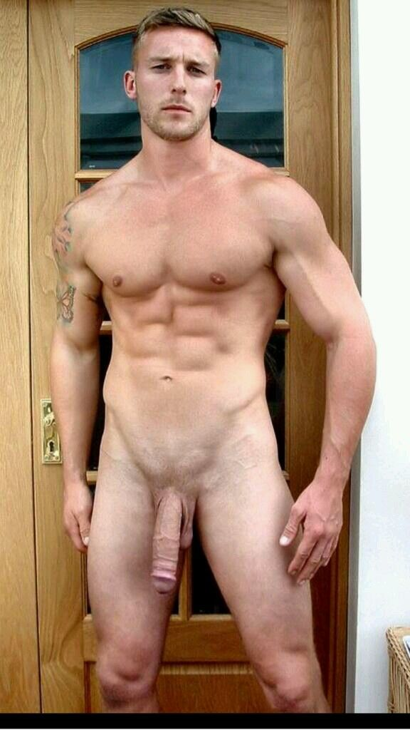 Naked athletic guy big cock