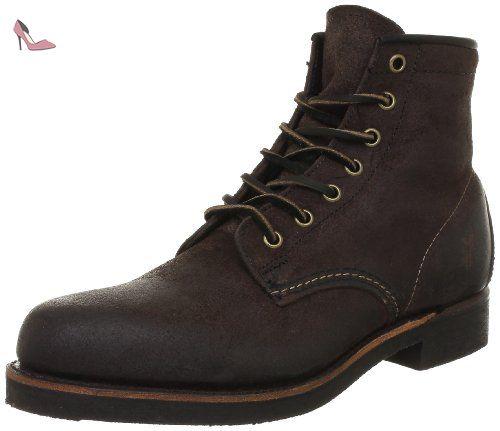 FRYE Arkansas Mid Lace, Boots homme - Noir (Blk), 46 EU (12 US)