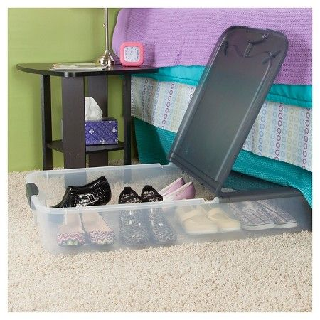 Sterilite Under Bed Storage Cool Sterilite® Ultra™ 74 Qt Clear Underbed Storage Tote  Clear With 2018
