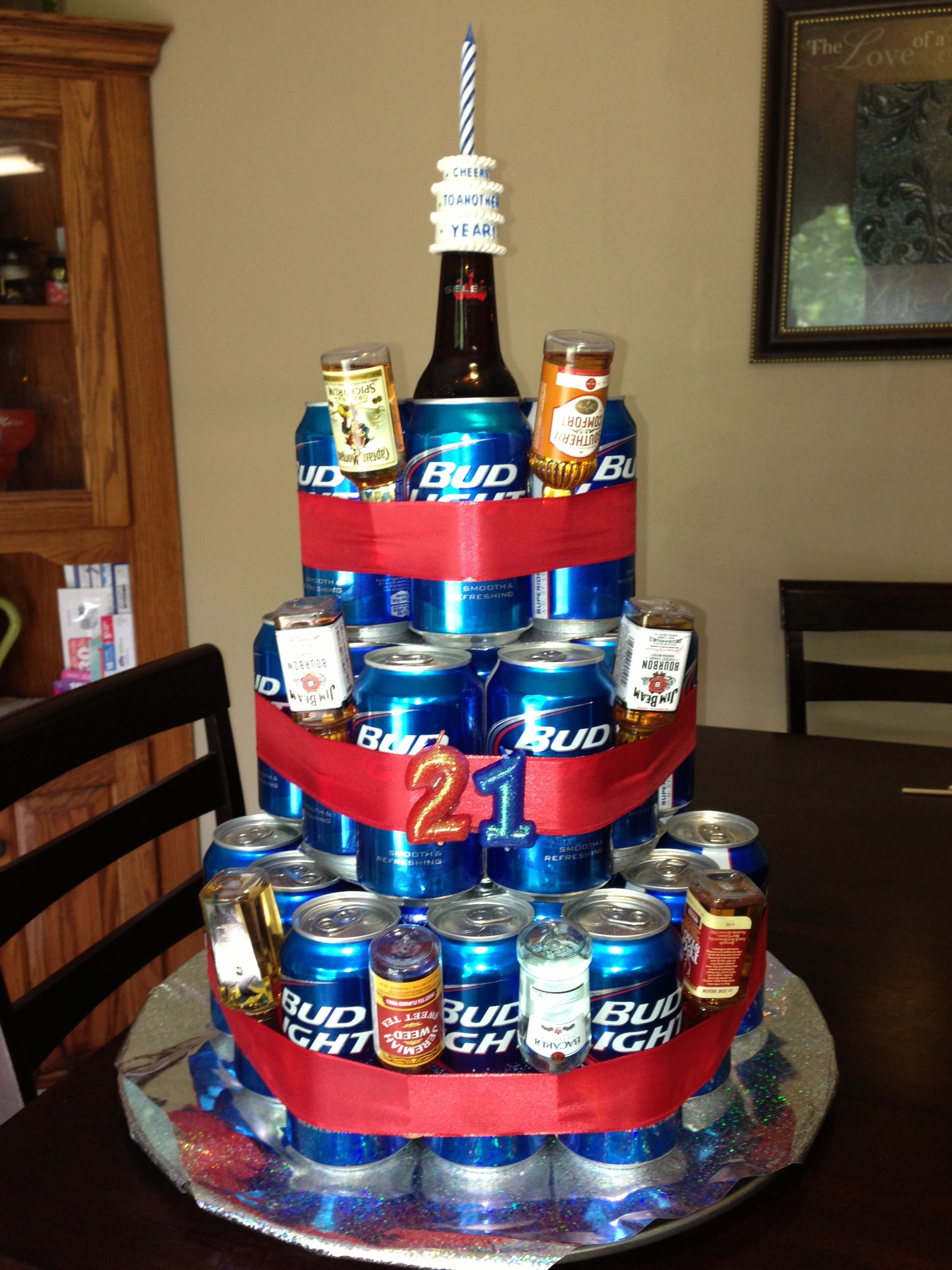 21st Birthday Beer Cake Definitely Making One Of These For My