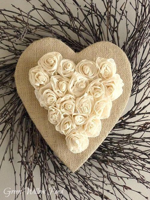 Tutorial For Rustic Heart Wreath Rustic Valentine Valentine Wreath Valentine Crafts