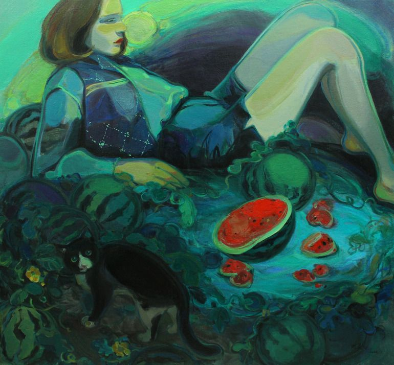 """Saatchi Online Artist: Liu Chenyang; Oil, 2012, Painting """"the harvest of life"""""""