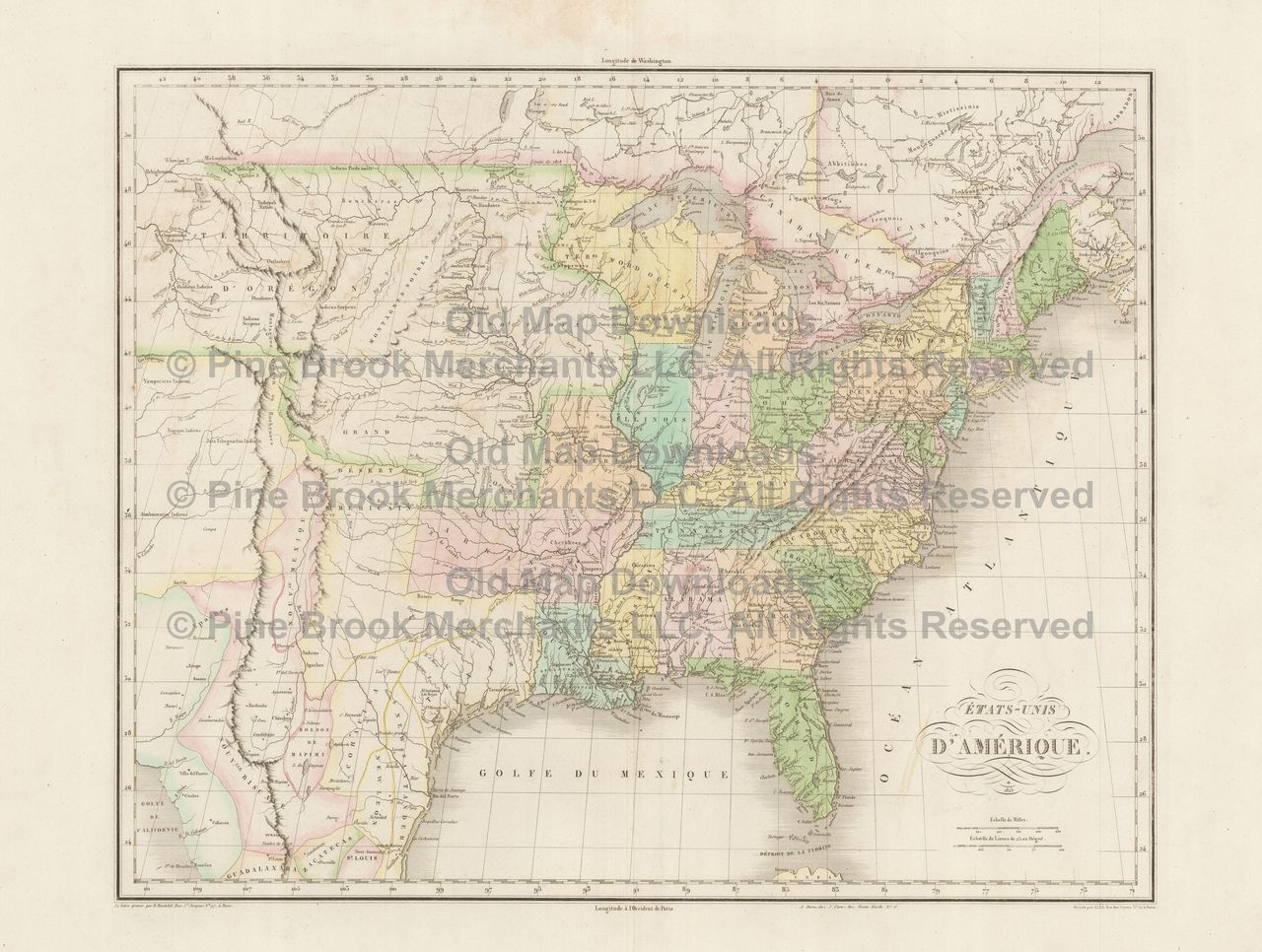 Northeast United States Old Map Laurie  Whittle  Digital - Map of united states download