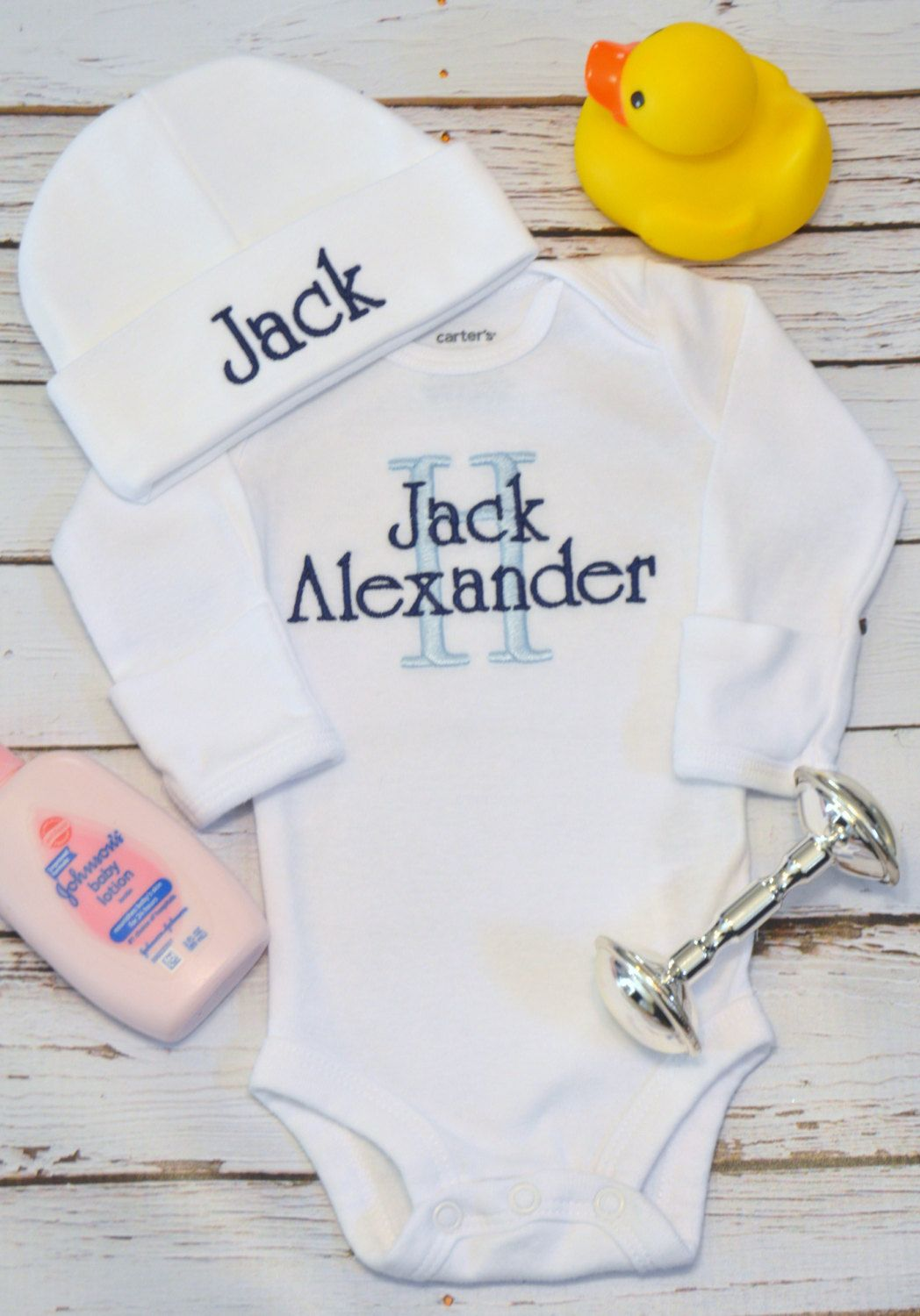 9c6242dcb78 Baby Boy Coming Home Outfit Baby Boy Clothes Baby Boy Outfit Personalized  Newborn Take Home Outfit Personalized Baby Boy Gift Baby Boy Hat