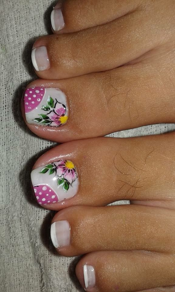 Pin De Yency Chavarria Vargas En Unas Nails Toe Nail Art Y