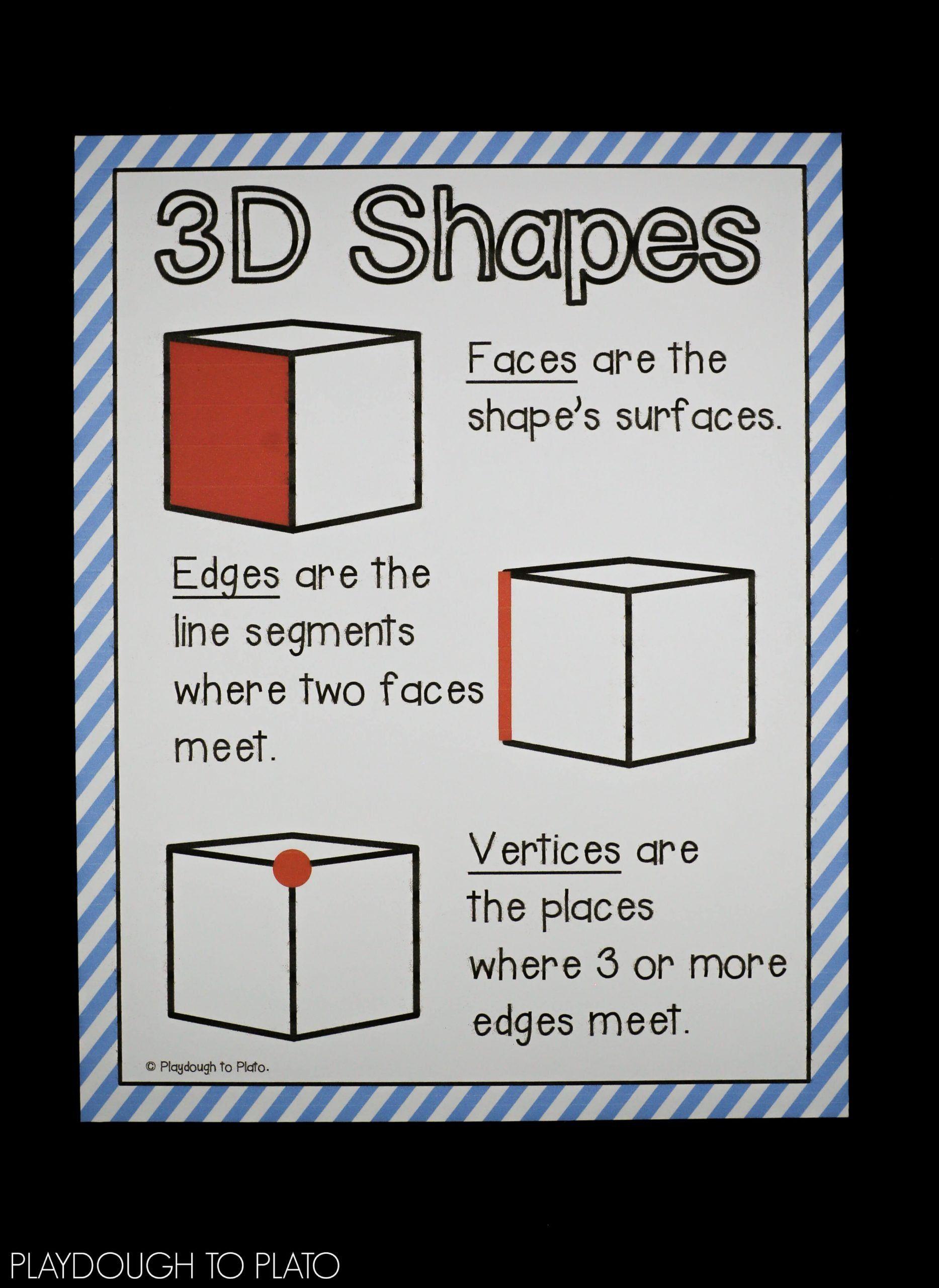 Kindergarten 3d Shape Worksheets 3d Shape Activities