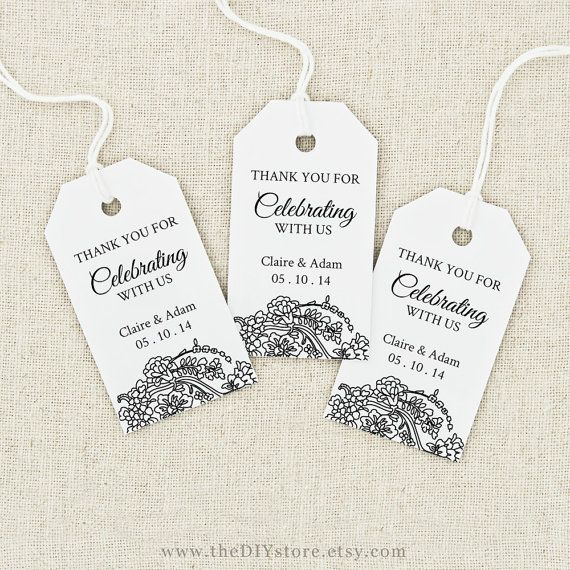 Favor Tag Printable Text Editable Medium Tag Size Wedding Tag