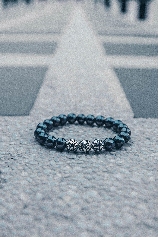 off premium silver classic hematite azuromenus bracelets