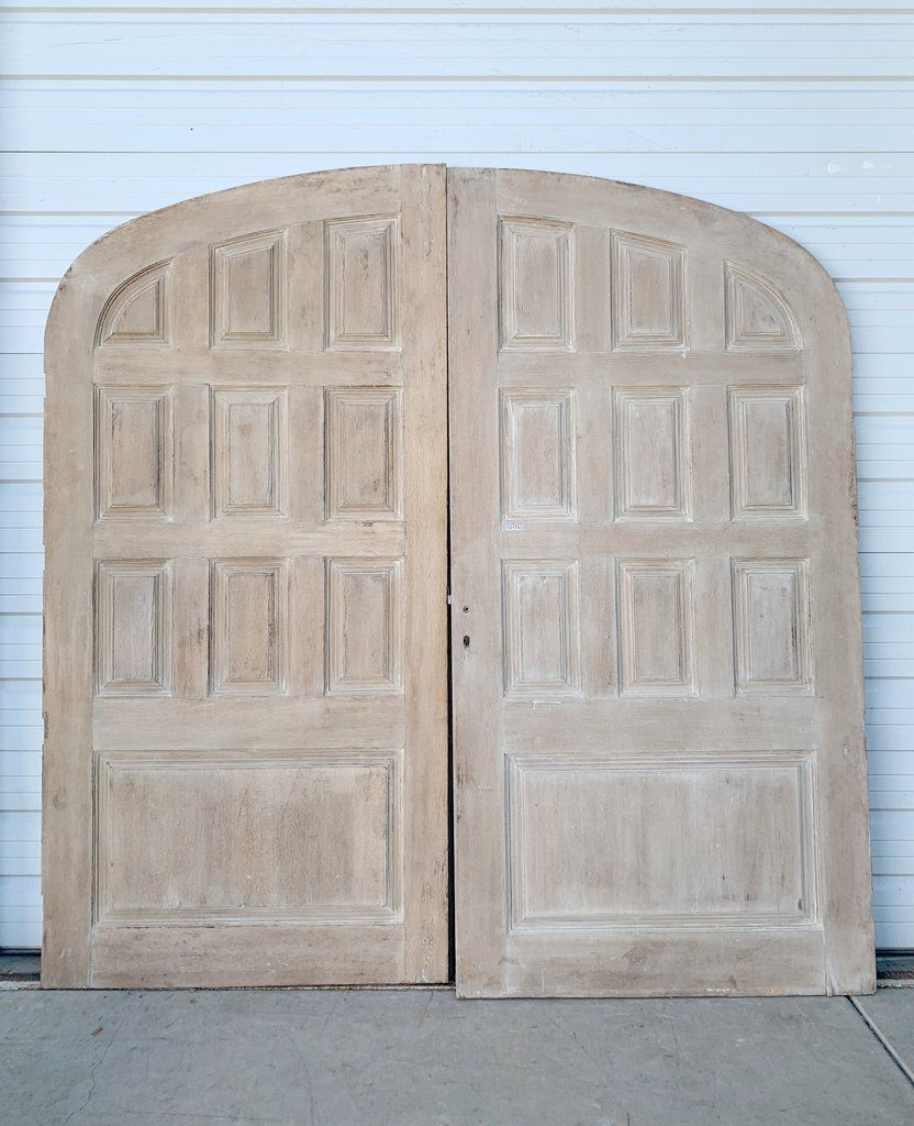 Pair Of 10 Panel Bleached Oak Doors In 2020 Oak Doors Black Interior Doors Doors