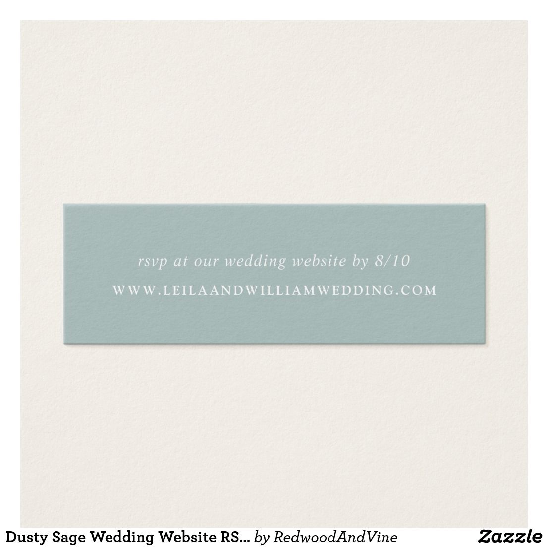 Dusty Sage Wedding Website Rsvp Cards Save Paper And Postage By Inviting Guests To At Your Feature White Lettering On A