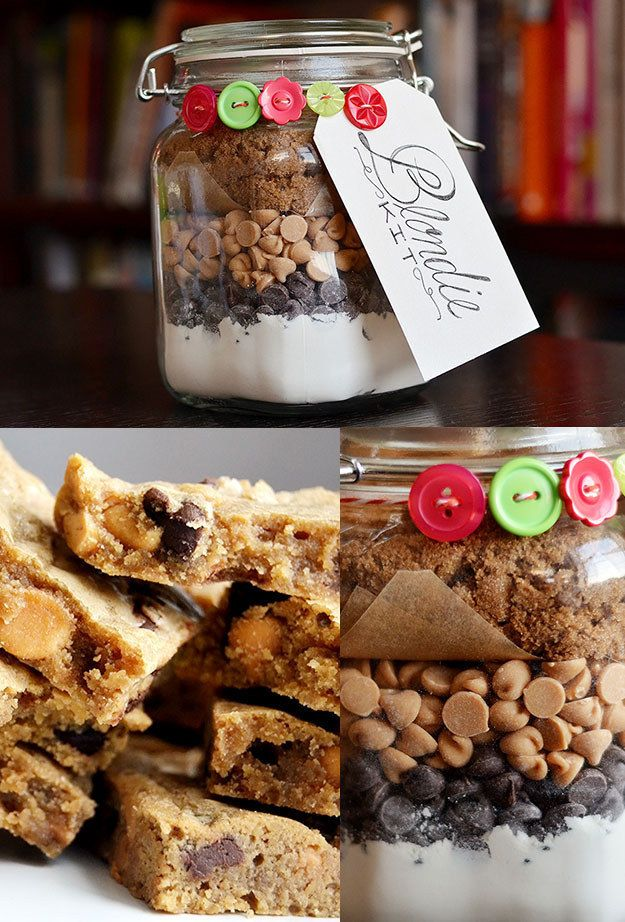 19 Homemade Food Gifts That You Can Actually Make Blondies, Peanut