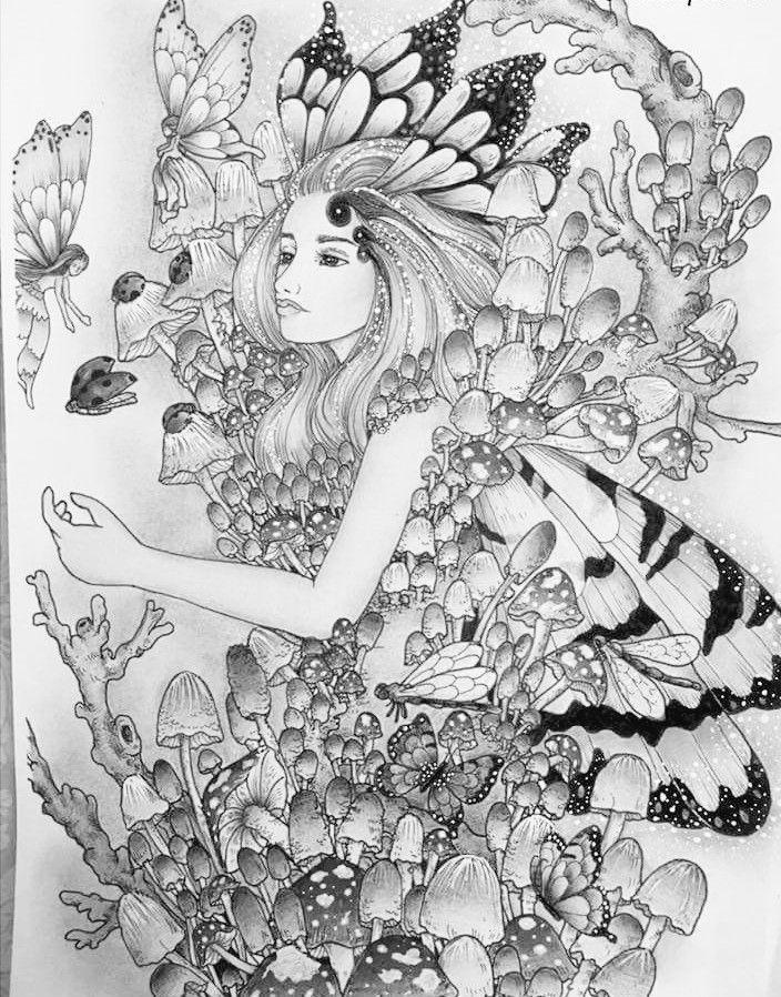 Pin de Roxane HSfd en coloriage | Pinterest | Colorear, Hada y Dibujo