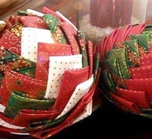 Faire des boules de Noël en tissu, divers tutos.. | Boule de noel