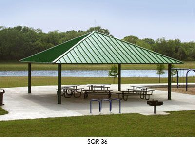 Square Hip Roof Shelter Hip Roof Outdoor Structures Outdoor