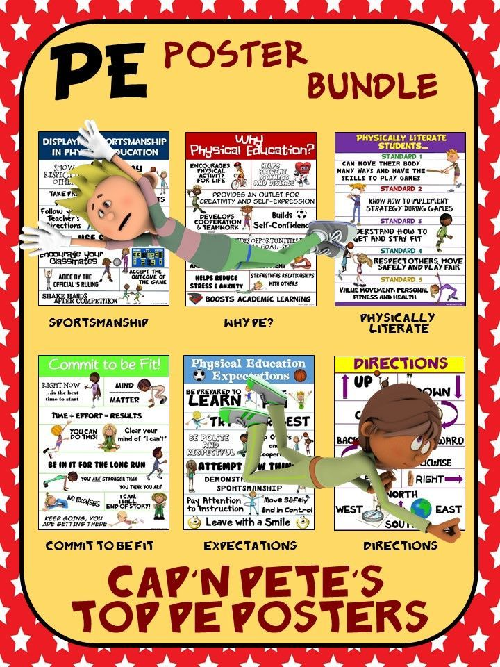 PE Poster Bundle: Cap'n Pete's Top Physical Education Posters- 12 ...