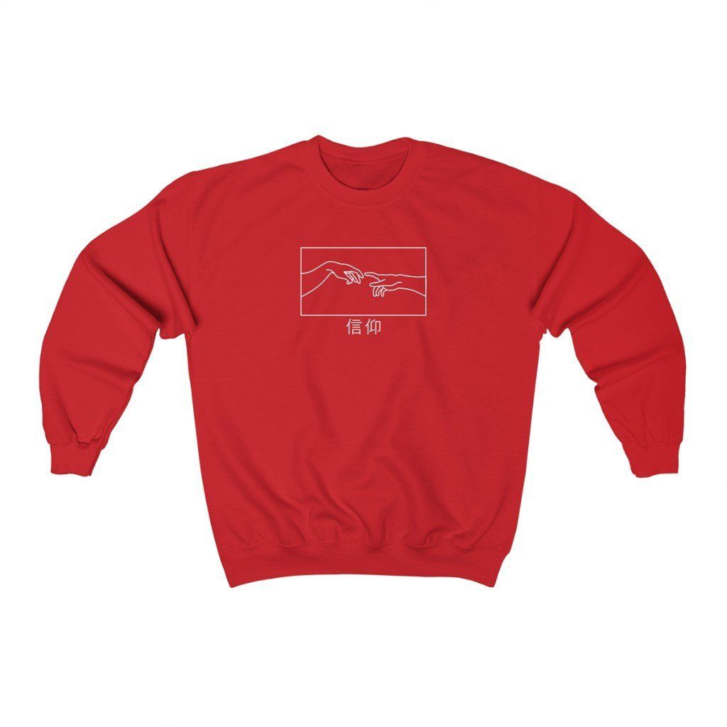 Creation of Adam Sweatshirt - L / Red