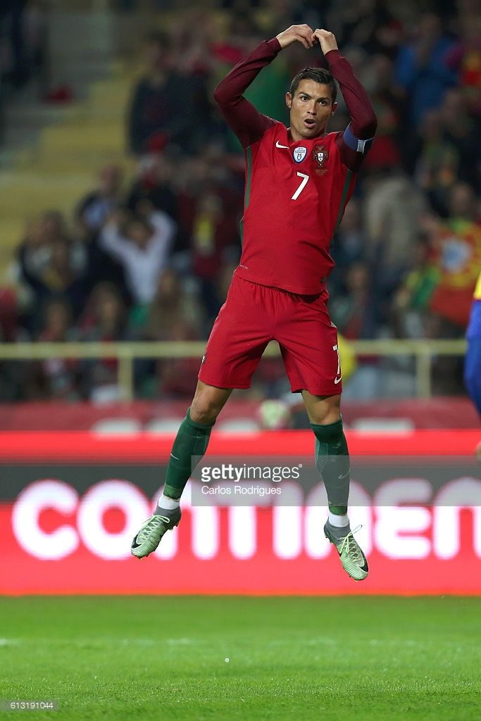 db2bc4d2e6a Portugal s forward Cristiano Ronaldo celebrates scoring Portugal s fifth  goal during Portugal v Andorra - FIFA 2018 World Cup Qualifier at Estadio  Municipal ...