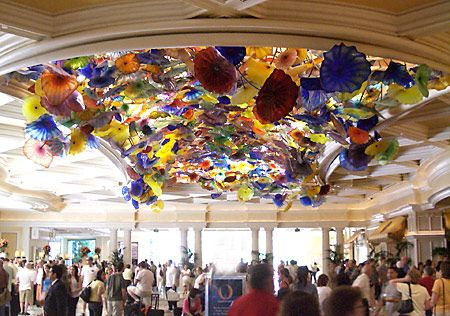 Bellagio Entrance Where I Fell In Love With Chihuly Glass