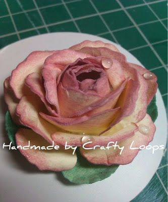 Crafty Loops: Tutorial - Peace Rose (Raindrops on roses........)