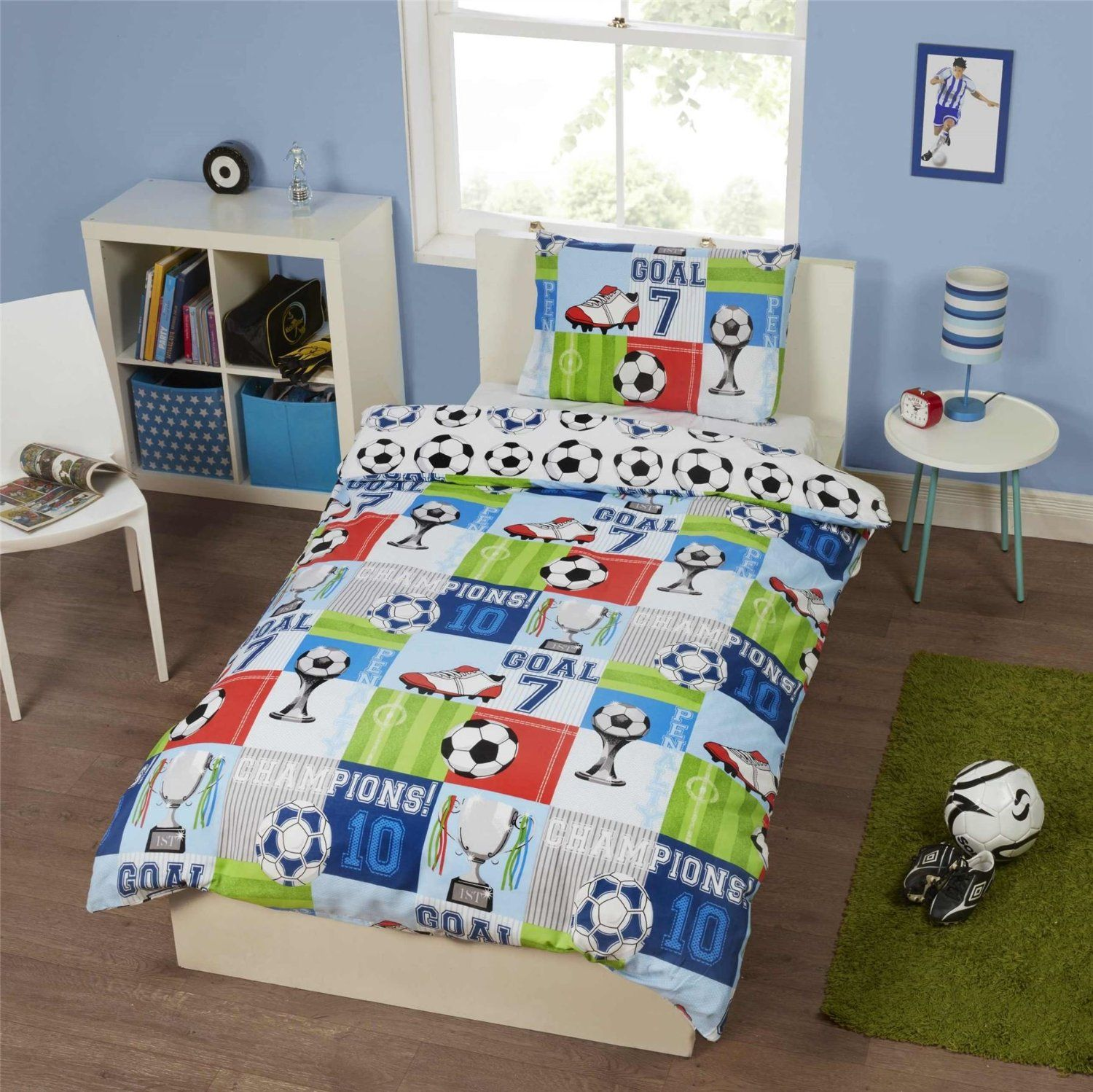 Dekbedovertrek Voetbal Football Kids Single Quilt Duvet Cover And Pillowcase