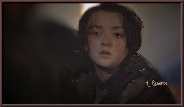S3-E10 Arya learning her mother (Cat) and brother (King Robb) were killed