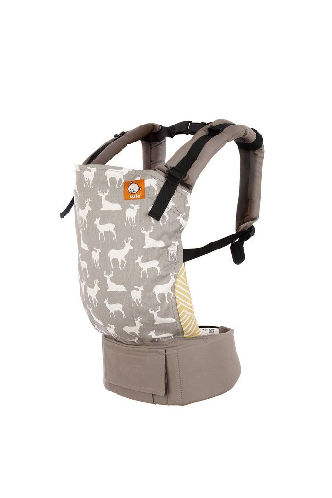 9c51fb80302 Fawn - Tula Baby Carrier. Fawn displays silhouettes of baby deer on a light  grey canvas
