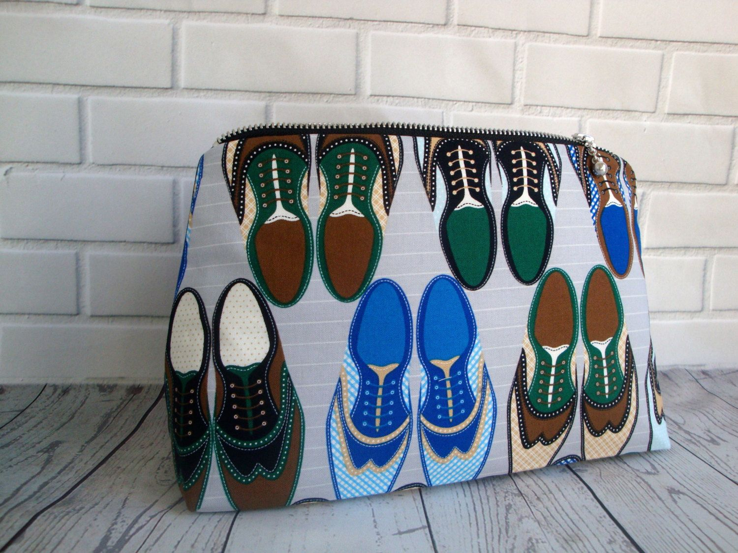 db3d341985 Mens funky Cotton Wash Bag - handmade - valentines gift - toiletry bag -  gift- shoe fabric - wash bag - unique mens wash bag by GerdaBags on Etsy