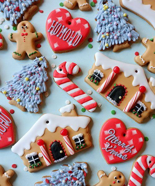 Christmas decoration cookies Christmas Pinterest Decoration