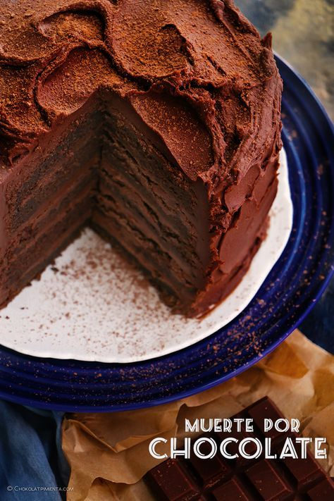 Muerte Por Chocolate Chocolovers Chokolat Pimienta Muerte Por Chocolate Pastel De Trufa De Chocolate Pastel De Chocolate Receta