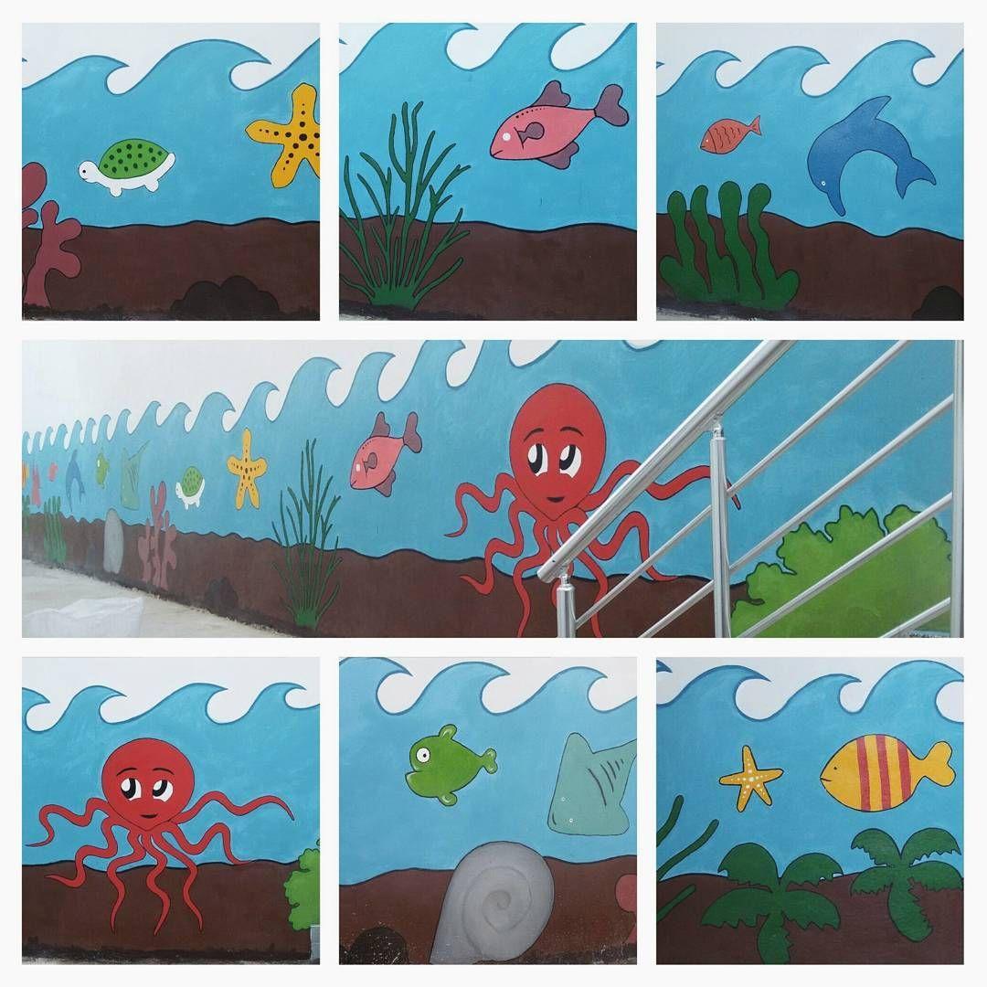 Duvar Boyama Denizalti Sinif Dekorasyonu Instagram