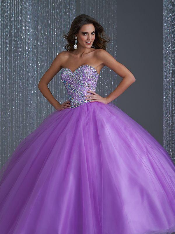 f8e1dc4bda Vestidos de color lila para xv años 1