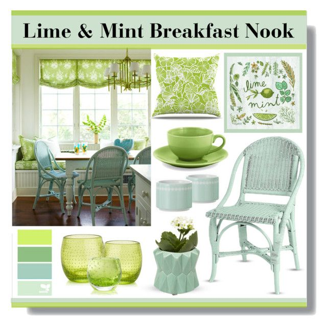 Lime Mint Breakfast Nook By Lgb321 Liked On Polyvore Featuring Interior