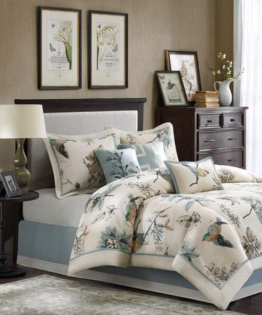 Loving This Khaki Bird Comforter Set On Zulily
