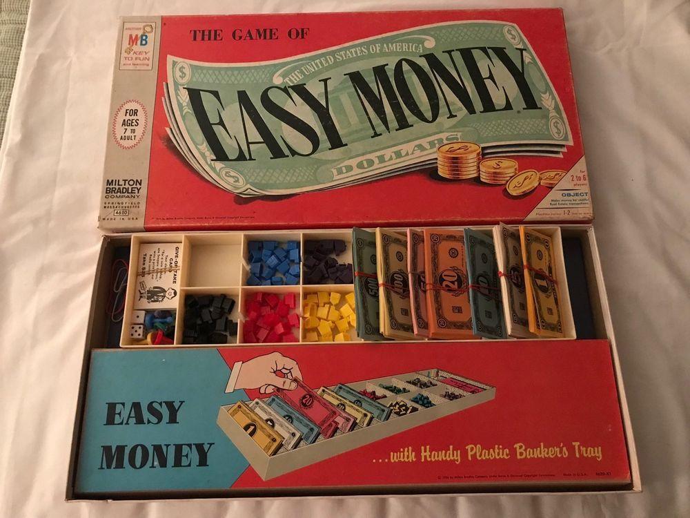 Vintage 1956 Milton Bradley Easy Money Boardgame 4620