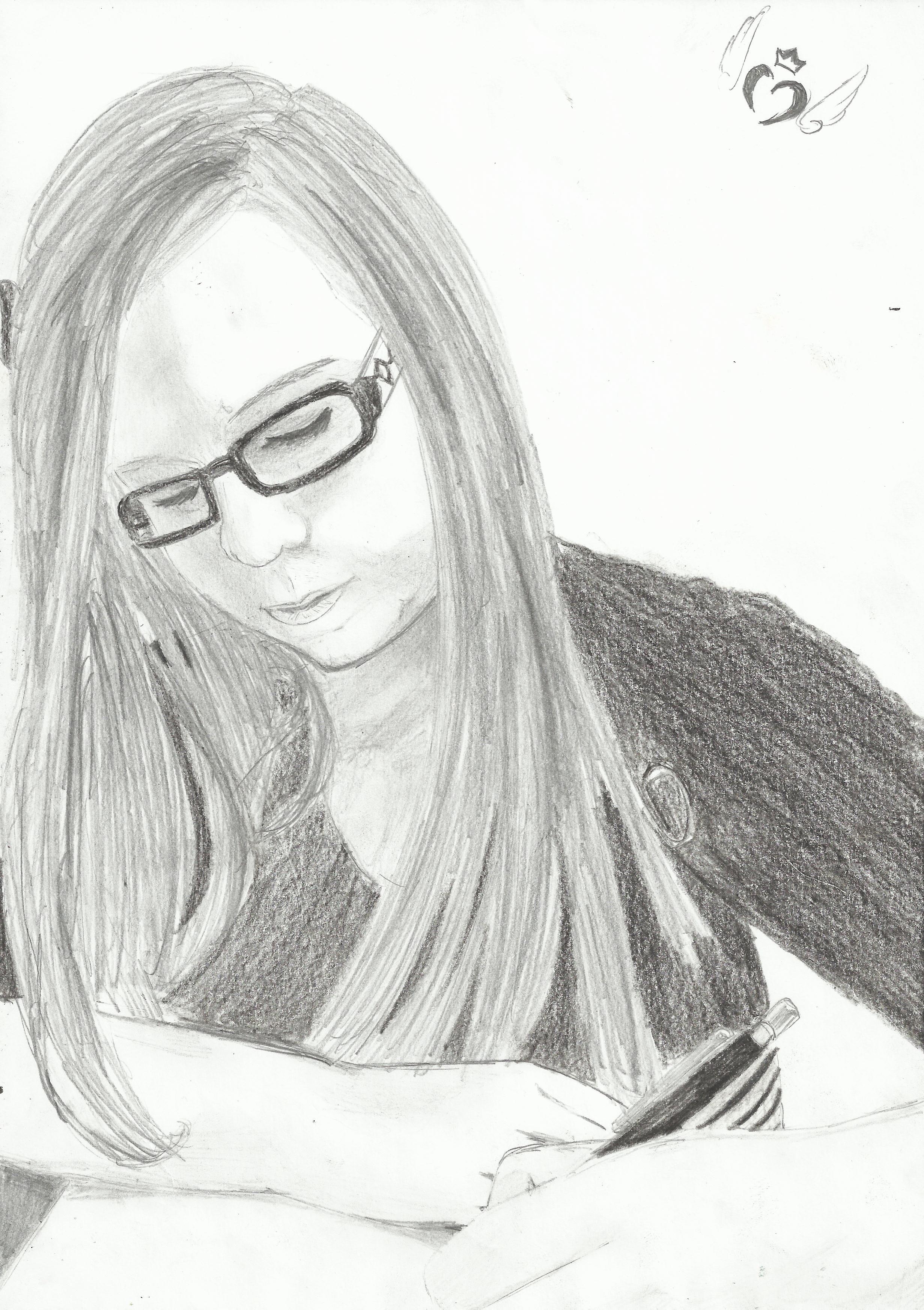 germ.: SO, ich habe versucht mich selber in real zu zeichnen und dies ist hierbei herausgekommen! :D Jap, das bin ich! XD  engl: SO, I tryed to draw myself in real, so no Manga, and this is it! :D Jap, this is me! XD