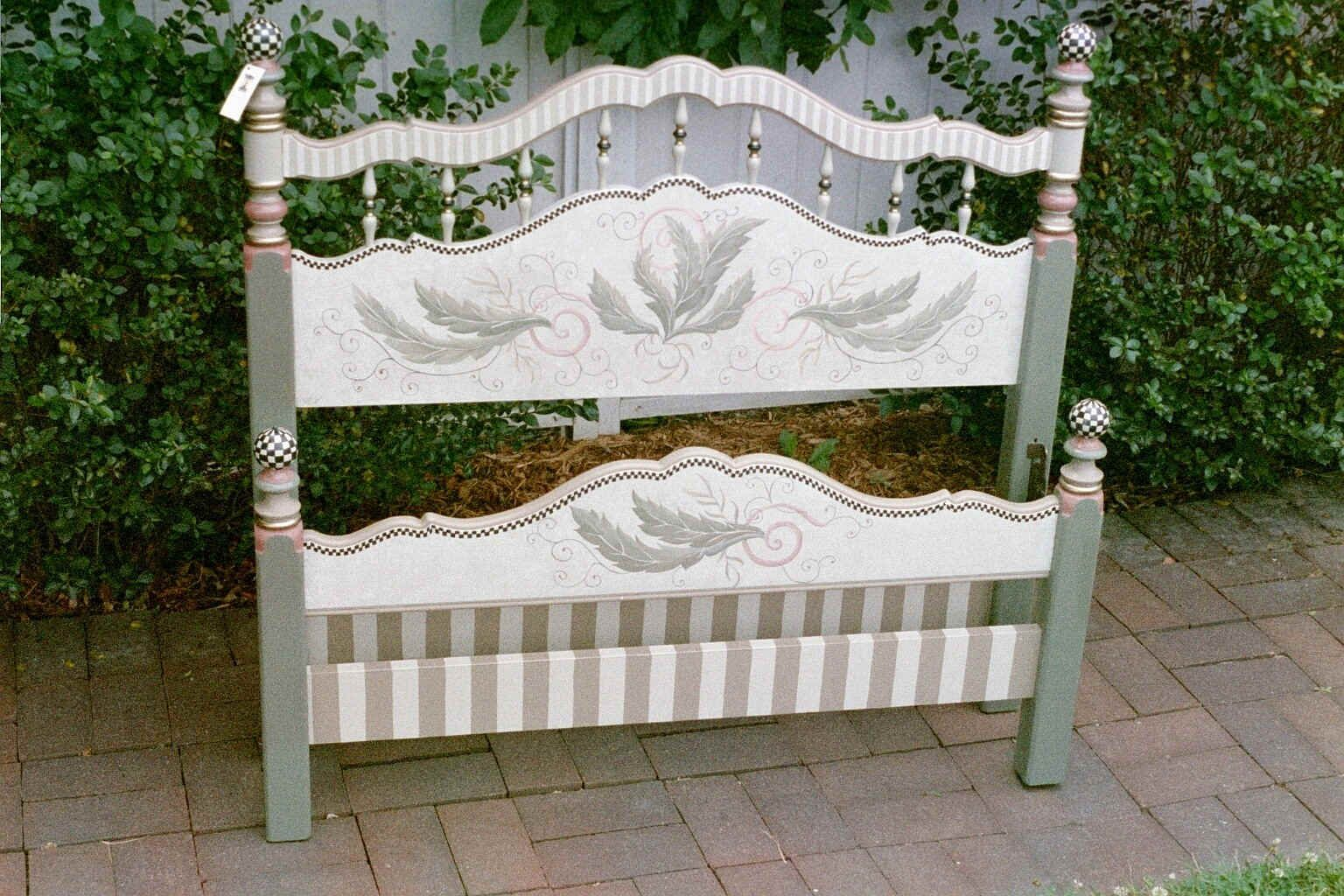 Hand Painted Furniture by Kate Gillery at Briar Cottage Studio http://briarcottagestudio.blogspot.com/ Full Bed