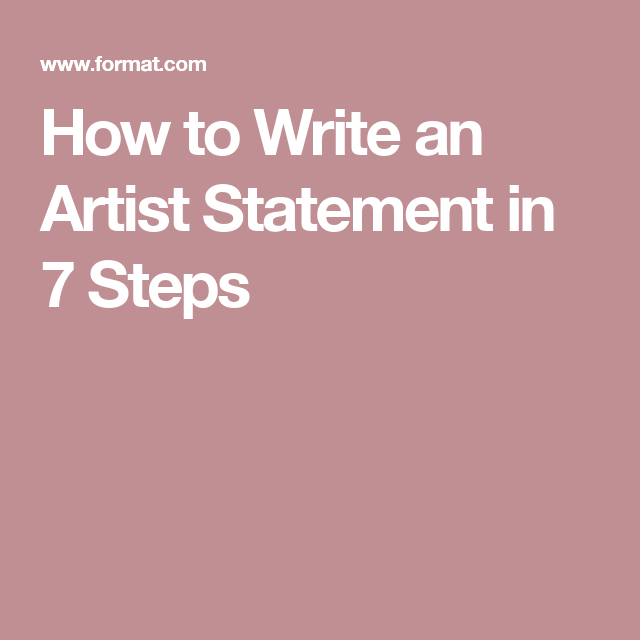 How To Write An Artist Statement In  Steps  Art Resources
