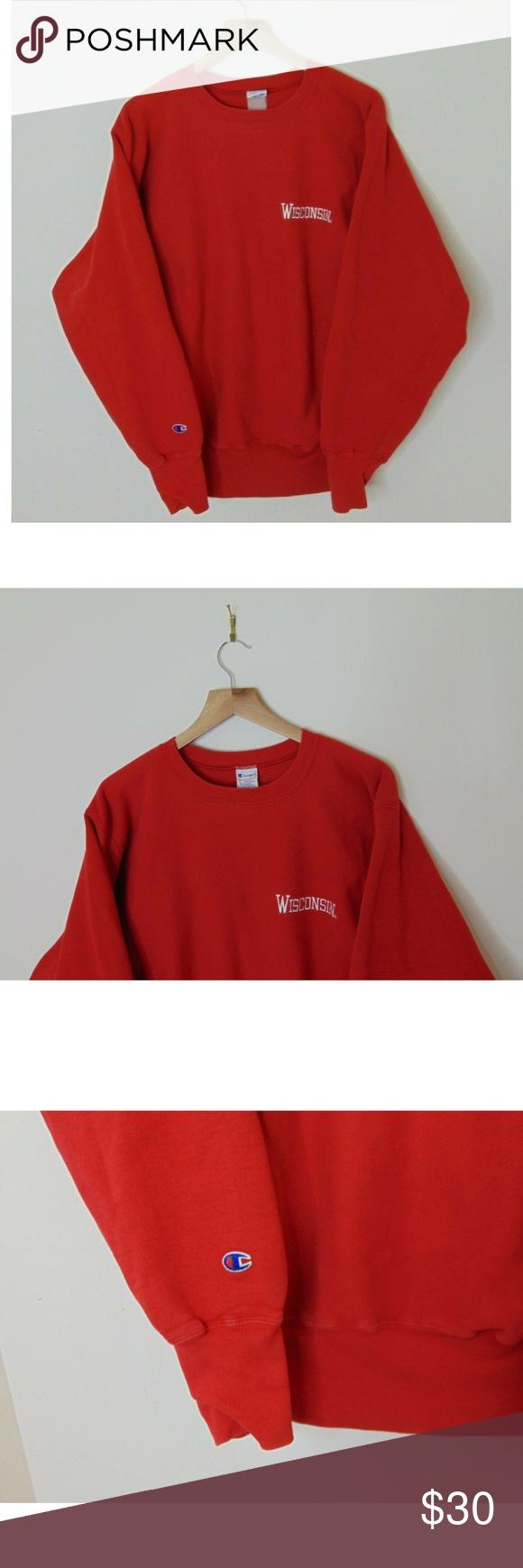 Vintage Champion Reverse Weave L Sweatshirt Red Champion Reverse Weave Vintage Champion Sweatshirts [ 1740 x 580 Pixel ]