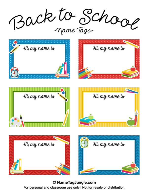 free printable back to school name tags the template can also be