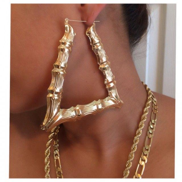 Triangle Door Knocker Earrings Lyst Asos Xl Spot Triangle ...