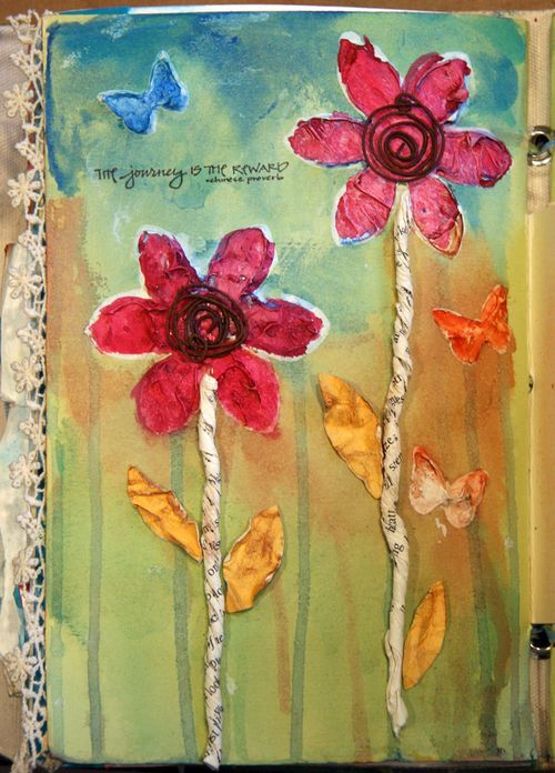 Great mixed media art journal page