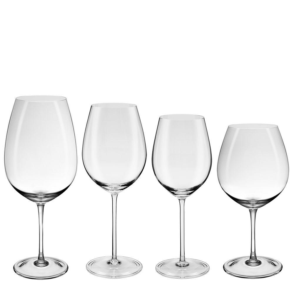 Conjunto C  4 Taças para Vinho Tinto Linha Profissional - Oxford Crystal -  Oxford Porcelanas 698ad0696f4cd